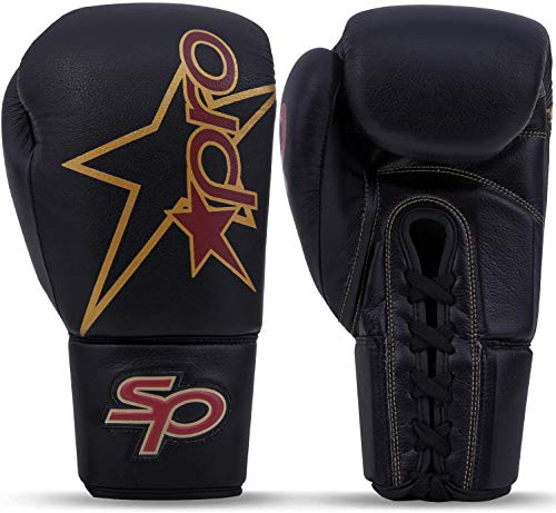 Starpro Boxhandschuhe Kickboxen Sparring Training - 8oz 10oz 12oz 14oz 16oz | Muay Thai Boxsack Sandsack Punchinghandschuhe Mitts Pferdehaar Boxing Gloves| Schwarz Kastanienbraun für Männer und Frauen