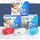 Anti russare Dispositivi anti russare, tappo anti-russamento 2-in-1 e purificatore d'aria respirabile, dilatatore nasale per sfiato naso, soluzione stop russare per dormire comodamente