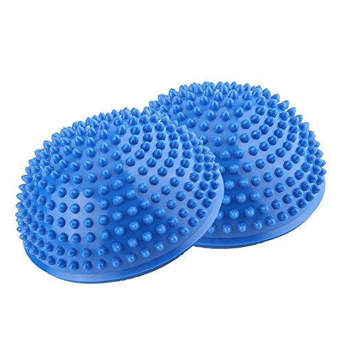 2er Set Fußmassage Ball Balancetraining Halbball für Pilates Yoga Fitness Gymnastik ( Farbe : Blau )