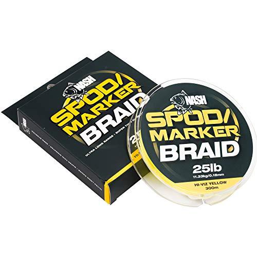 Nash Spod and Marker - Cuerda para marcar y marcar (300 m), Color Verde o Amarillo, Verde
