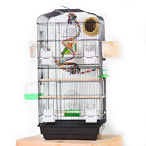 DX Gevouwen Metalen Papegaai Smeedijzeren Vogelkooi Kleine Medium En Grote Papegaai Vogel Villa Lijster Starling Vogelkooi Verhoogde Fokkerij Vogelhuis Vogel Villa (Kleur : Wit)
