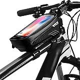 N /A Moto cáscara envase de Tubo de Bicicleta de montaña Dura Bolsa de sillín teléfono multifunción Paquete de Bolsa de Montar el Equipo a Prueba de Agua en la viga Frontal (Color : Black, Size : 1L)