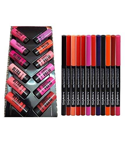 AV Eye Lips Liner with Lipstick (Multicolour)