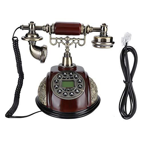 Pokerty Teléfono Fijo, teléfono Fijo Retro Home Office Teléfono Fijo FSK/DTMF Landline Vintage con función de Pausa y rellamada