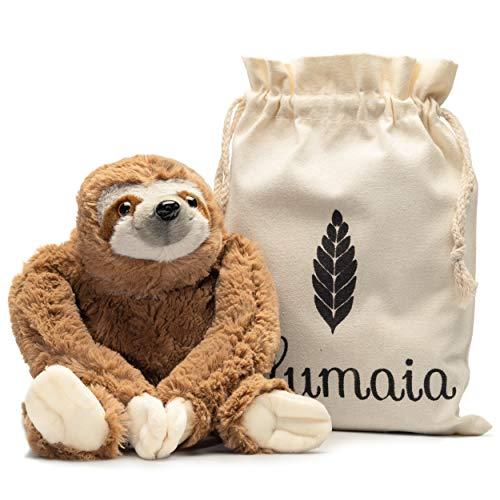 Lulumaia - Almohadilla térmica para calambres - Peluche de peluche con almohadilla térmica para microondas para cuello, estómago, alivio del dolor de espalda - Tensión, alivio del estrés en bolsa de lona..