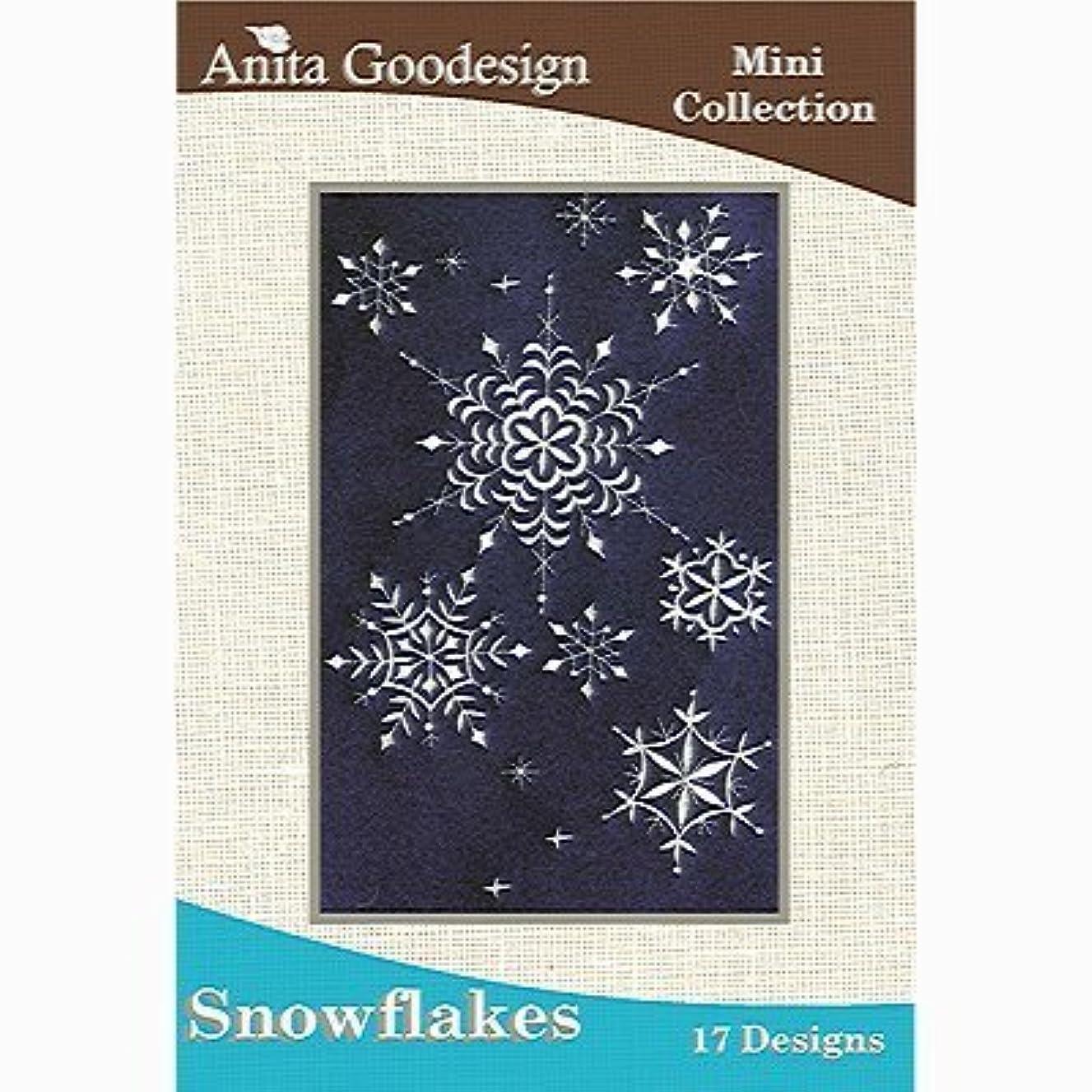 Anita Goodesign Embroidery Cd Snowflakes