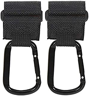 NEXCURIO Baby Stroller Hooks Anti Slip Upgrades Heavy Duty Aluminum for Backpack, Diaper Bags, Shopping Bags, Hanging Univ...