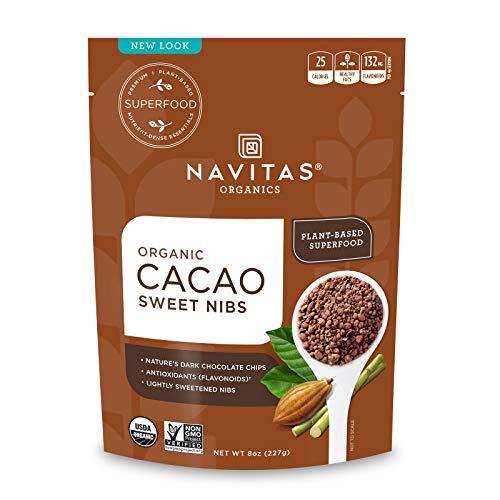 Navitas Organics Sweetened Cacao Nibs, 8oz. Bag