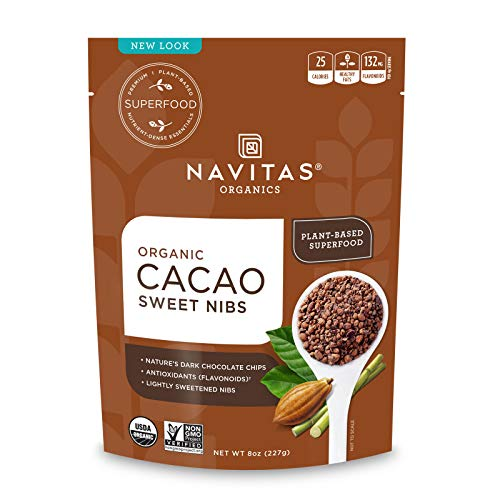 Navitas Organics Sweetened Cacao Nibs, 8oz. Bag