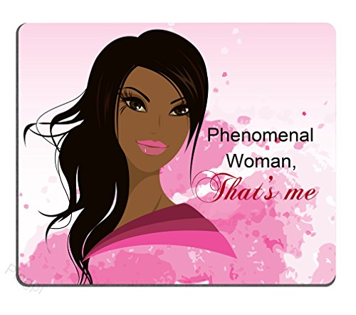 Pingpi Mouse Pad for Women, Dark-Skinned, Phenomenal Black Woman,240mm X 200mm X 3mm Non-Slip Rubber Mousepad Mat