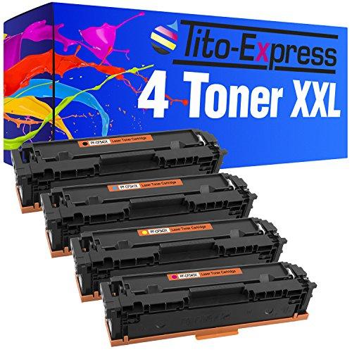 Tito-Express PlatinumSerie 4 Toner für HP CF540X-CF543X Color Laserjet Pro M254DNW M254NW M254DW M280NW MFP M281FW M281FDN M281FDW MFP M 280 NW 281 FW FDN FDW M 254 NW DW DNW