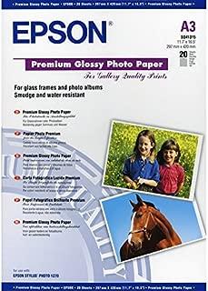Epson Premium Glossy Photo Paper, A3, 297 x 420mm, 255 g/m2, 20 Sheets