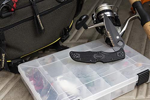 Spyderco Endura 4 Lightweight Folding Knife with K390 Premium Steel Blade and Blue Durbale FRN Handle - PlainEdge - C10FPK390