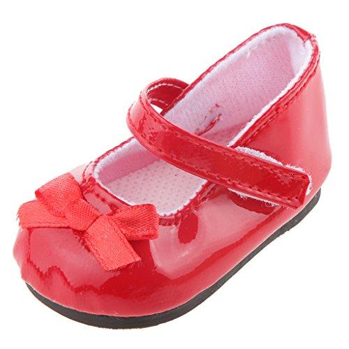 MagiDeal Chaussure Mode pour 18'' Poupée American Fille Rouge