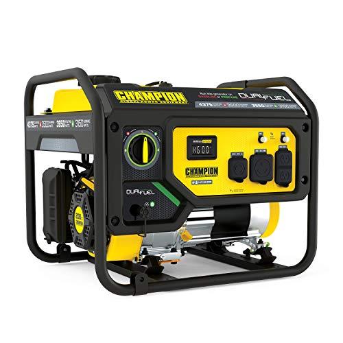 Champion Power Equipment 200965 4375/3500-Watt Dual Fuel Portable Generator, RV Ready