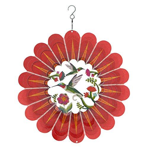 Spin Art Deluxe 3d Humming Bird multicolores à vent (30,5cm)