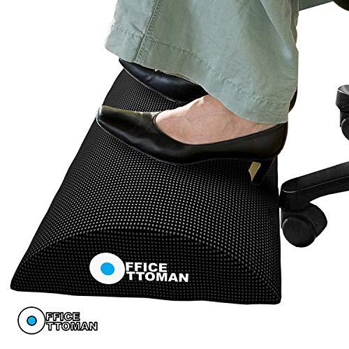 Descanso de pé otomano para escritório embaixo da mesa, melhor descanso de pés e banquinho para pés sob a mesa, excelente folga de perna sob a mesa ergonômica