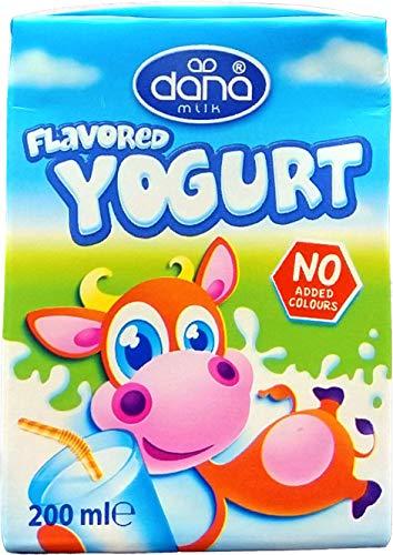 DANA Bebida de yogur sabor natural de larga duración | sabor fresco, elaborado con leche desnatada | Paquete de 24 (200ml)