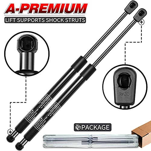 A-Premium Tailgate Rear Hatch Lift Supports Shock Struts Replacement for Hyundai Tiburon 2003-2008 Coupe with Spoiler 2-PC Set