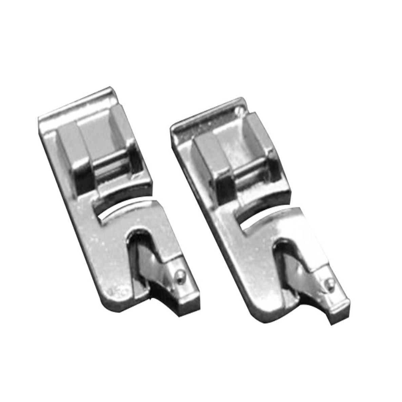 Tinksky Narrow Hem Presser Feet , 6mm + 4mm Snap-on Rolled Hem Narrrow Hem - 2pcs