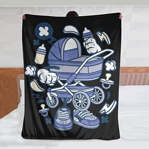 niaoyun - Cochecito de bebé para animado- Manta de franela ultra suave para todas las estaciones de peso ligero sala de estar dormitorio manta cálida 150 x 150 cm