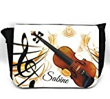 Notentasche Dokumententasche Schultasche – für Violine/Geige, gerne auch mit Namen personalisiert. Prima Geschenkidee.