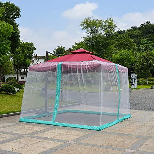 SUNYUE Römischer Regenschirm Mosquito Umbrella Canopy