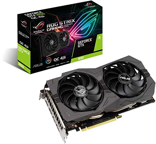 Asus ROG Strix GeForce GTX1650 - Tarjeta gráfica (4 GB, edición OC, GDDR6)