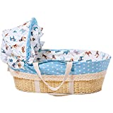GOUO@ Gran Espacio Baby Moses Basket Newborn Gift Cesta De Paja Portátil Cuna...