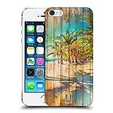 Head Case Designs Playa Mezcla de Estampados de Madera Carcasa rígida Compatible con Apple iPhone 5 / iPhone 5s / iPhone SE 2016