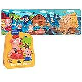 boppi Mideer Fairy Tale Jigsaw Puzzle 36 piezas extra gruesas para principiantes para nios cuentos de folclore ilustrados  tres cerdos pequeos