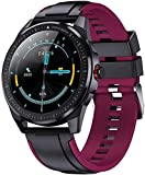 XYJ Smart Watch 1 28 Pulgadas Touch Full Reminder Recordatorio Pulsera Pulsera IP68 Responsable Bluetooth Watch (Color : Black and Purple)