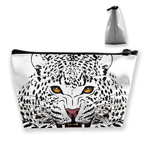Sac de rangement portable en forme de léopard pour cosmétiques, pinceaux de maquillage, produits de toilette