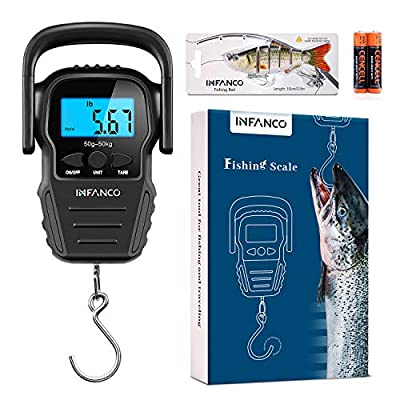 INFANCO Fish Scale, Digital Fishing Scale, HD L...