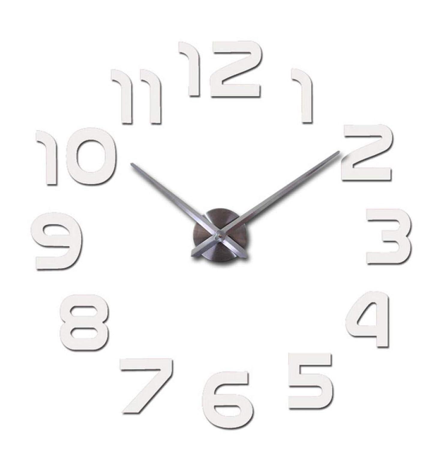 Liubaorong Mirror Wall Clocks Watches Home deocr 3D Home Decoration Wall Stickers DIY Mirror Wall clock37inch