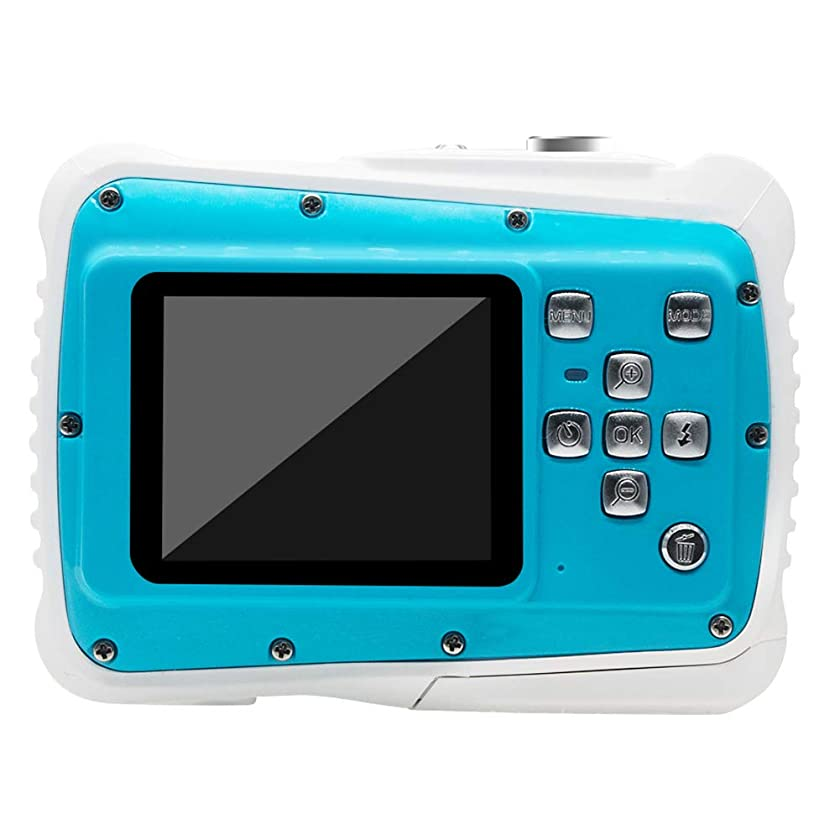 MEMORY Underwater Camera for Kids, Waterproof Camera 12MP HD Underwater Action Camera, Camcorder with 8X Digital Zoom 2.0 Inch LCD Display