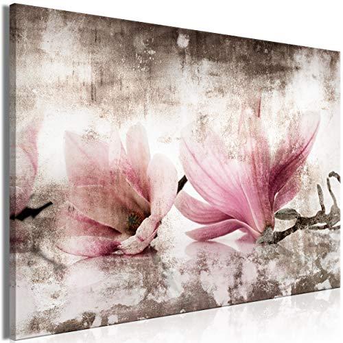 decomonkey Bilder Blumen 120x80 cm 1 Teilig Leinwandbilder Bild auf Leinwand Vlies Wandbild Kunstdruck Wanddeko Wand Wohnzimmer Wanddekoration Deko Magnolie