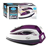 Quest Travel Steam Iron - 1000w Collapsible Mini Iron, Portable, Ergonomical, Non Stick Soleplate, Safe and Compact for Travel