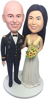Matrimonio militare Cake Topper Bobble Head Basato sulle foto dei clienti Cake Topper Regali di nozze militari Military Ca...
