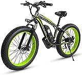 RDJM Bici electrica Bicicletas rápidas y Eléctrica en Adultos Plegable Bicicleta eléctrica 500w 48v 15Ah 20' 4.0 Fat Tire Pantalla LCD e-Bicicleta con 5 Niveles de Velocidad (Color : 26inch Green)