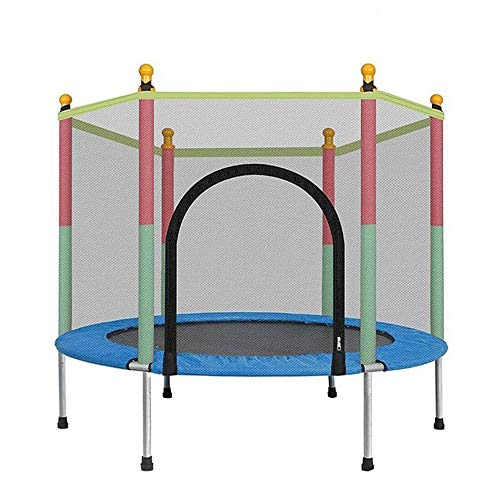 CCTYCC Kids Trampoline With Enclosure Net, Durable Stand Nets, Fitness Exercise Trampoline, Home Toys Jumping Bed, Children Bed Outdoor Trampolines Equipment