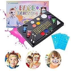 Ofertas Tienda de maquillaje: 【Perfectamente seguro】 - No tóxico, hipoalergénico, vegano y sin parabenos, tan suave para la piel sensible y perfectamente seguro para los niños. Sin embargo, le recomendamos encarecidamente que primero pruebe la pintura de la cara en una superficie...