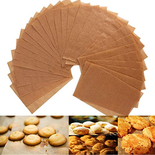 Unbleached Parchment Paper Cookie Baking Sheets - 12 x 16' Exact Fit For Your Half Sheet Pans - Non-Stick - Oven Safe - will Not Curl & Burn -100 Sheets In A Storage Box
