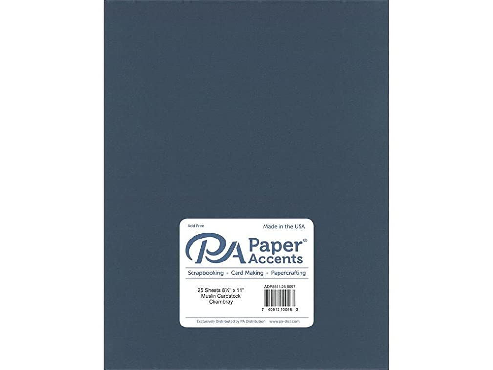 Paper Accents Cardstock 73 lb Chambray Muslin, 8.5