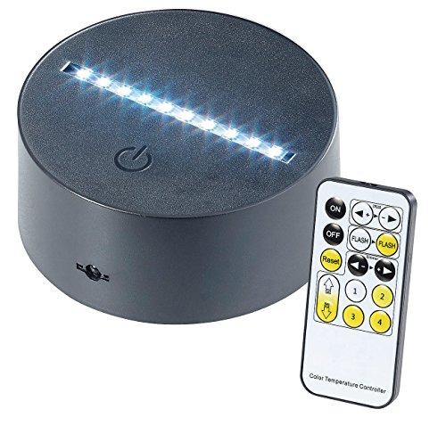 Lunartec Zubehör zu LED Lichtsockel: 3D-Hologramm-Lampe für austauschbare 3D-Leuchtmotive, 7-farbig, USB (Effektleuchten)