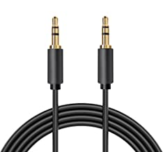3.5 mm Male to Male Stereo Audio Aux Cable, Gold Plated, 6 Feet, 1.8 Meters, Digital Restock