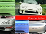 SFSalesUSA - Glossy Black Bumper Letters for Acura Integra 1998-2001 Letter Inserts Not Decals