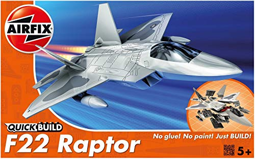 Airfix Quickbuild Lockheed Martin Raptor Airplane, Multi