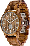 Wooden Watch for Men Maui Kool Kaanapali Collection Analog Large Face Wood Watch Bamboo Box (C4 - Zebra Face)