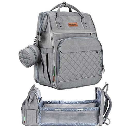 Diaper Bag Backpack for Dad Mom,Large Baby Bag for Boy Girl with Bassinet...